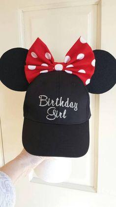4da7c53a578 Birthday Girl Minnie Mouse inspired ears