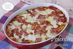 Polenta pasticciata due versioni in bianco o al sugo una ricetta per riciclare della polenta avanzata, quindi niente sprechi ma si crea un piatto nuovo