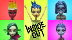 "Play Doh Monster High ""INSIDE OUT"" Joy, Disgust, Anger,Sadness,Fear  Ins..."
