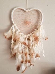 Heart Dream Catcher, Beaded Dreamcatcher, Medium Dreamcatcher, Wall Hangings, Boho Home Decor, Bohemian Decor by OurBuckeyeFarms on Etsy