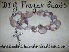 DIY Protestant Prayer Beads.  www.cookitcleanitmakeitfun.com