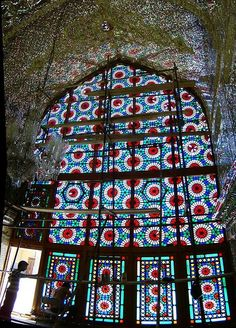 Inside a shrine in Shiraz, Iran.