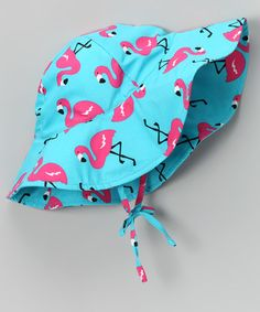 Take a look at this Aqua Flamingo Sunhat by i play on #zulily today!