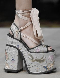 I want to see someone walk across the street with these shoes and still be in one piece.