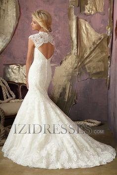 Trumpet/Mermaid Sweetheart Strapless Lace Wedding Dress - IZIDRESS.com