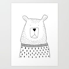 Buy Bär Art Print by ekidraws. Worldwide shipping available at Society6.com. Just one of millions of high quality products available.