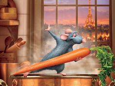 Ratatouille...didn't want to be like the other rats, found his passion in cooking, adventurous