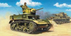 In 1942 came the M3A3, which was influenced by the M5 design. In all, 13,859 M3 were built and fought in almost all theaters of war. In Europe, they faced much better German tanks, and their feeble armament and armor, their radial gasoline engine, were seen as handicaps. This was not the case in the Pacific, where they were still a match for the smaller Japanese tanks.