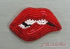 Ну ооочень модные и всем полюбившиеся #губы #губкиизбисера #украшениеизбисера #handmade