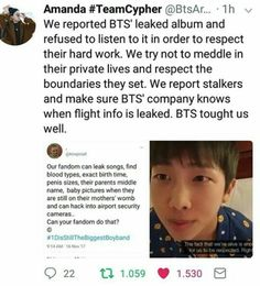 We respect the boys and their privacy