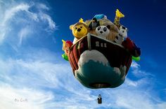 Arky Noah's Ark ~ Original fine art hot air balloon photography by Bob Orsillo. Copyright (c)Bob Orsillo / http://orsillo.com - All Rights Reserved.  Buy art online.  Buy photography online  Great Falls Balloon Festival Lewiston / Auburn Maine   The size of this hot air balloon is amazing as you can see by how small the basket appears in relationship to the balloon.   Arky  Stan Ness, St. Peter, PA / His Sky Ministries, Grants Pass Oregon
