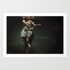 """""""abyss of the disheartened : V Art Print by Heather Landis"""" Underwater Photography For The Bathroom."""