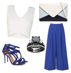 Blue&White! by fabianarocco on Polyvore featuring moda, BCBGMAXAZRIA, 2NDDAY, Ted Baker and Jendi