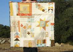 """Summer Heather Ross Improv Quilt by Fabric Mutt."" I have a low-volume, muted color quilt planned which many of these fabrics would fit right in."