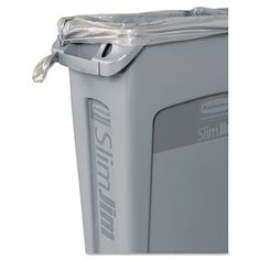 Rubbermaid Commercial Slim Jim® 23-Gal. Rectangular Wastebasket with Venting Channel & Reviews | Wayfair Supply