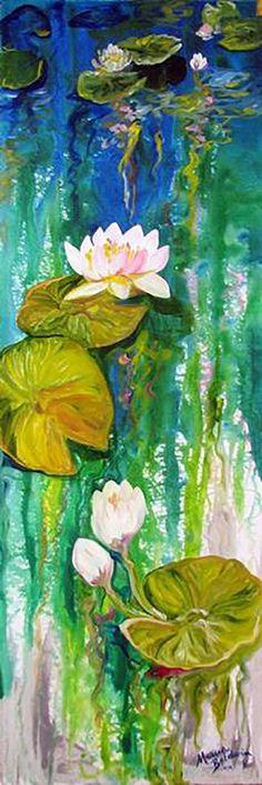 """Waterlily-Reflections"" par Marcia Baldwin"