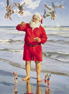 After all the works done...Santa goes on vacation in the sun