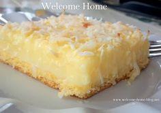 Welcome Home: Coconut Custard Slice