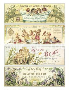 Antique French advertising print poster SOAP by FolieduJour, $12.00