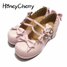 >> Click to Buy << Japanese Tea party shoes Lovers Harajuku Lolita Bow Shoes Lace High-heeled Shoes Love Laser womens pumps #Affiliate