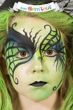 Un maquillage terrifiant pour devenir une sorcière verte !