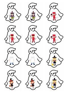 Planche n°2 - Mémory déguisements d'Halloween
