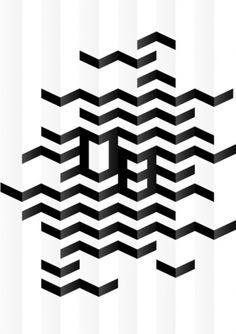 Geometric chevron print. repetitive element to lead through narrative. >>>Big fan of chevrons. They come up a lot in band formations. I love the 3D efffect achieved by simple shading.