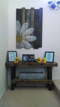 Painted Daisy Pallet decor