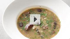 Roasted Beef, Mushroom, and  Barley Soup