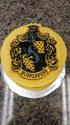 Harry potter hufflepuff birthday cake