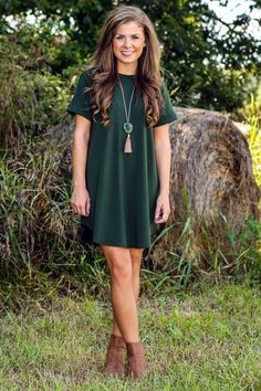 Red Dress Boutique is a women's clothing online boutique like no other! Cute dresses, tops and shoes all styled in complete outfits for the woman on the go! Dress Outfits, Fall Outfits, Summer Outfits, Fashion Outfits, Womens Fashion, Shirt Outfit, Outfit Work, Red T Shirt Dress, Tee Shirt Dresses
