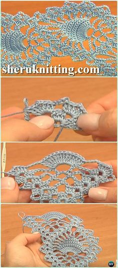 Crochet Pineapple Stitch Fish Stitch Lace Tape Free Pattern Video - Crochet Tape Free Patterns