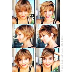 """""""Who's says you can't have versatility AND bangs! I am all about being able to change up your look throughout the day but never really having to force a…"""""""