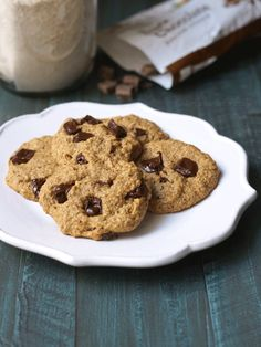Vegan & Gluten-Free Chocolate Chip Cookies, that are nut-free, too!