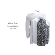 White Koko #kemejabatikmedogh http://medogh.com/Kemeja-Batik-Patriot-Series-Kemeja-Nick-HM-1947
