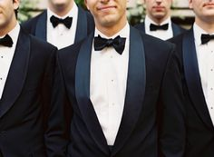Glamorous New Orleans Wedding - Dapper Men in Deep Midnight Blue