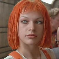 Mila Jovovich in The Fifth Element