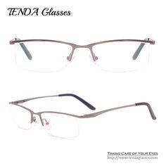 4424e0fcb65 Half Frame Eye Glasses Men Prescription Eyewear For Clear Lenses Myopia    Reading