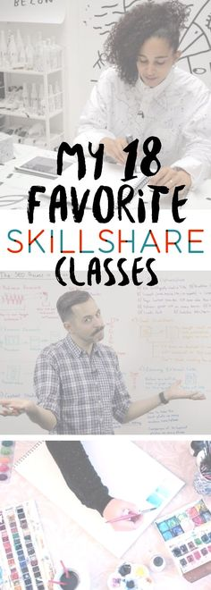 18 Favorite Skillshare Classes ::: Here are some of the classes that I have liked the best. You can do the classes at your own pace anytime – at midnight or noon. #skillshare  #education #creativity