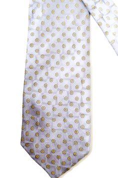 Silk Tie Grey Elegant Tie/ Vintage Man Accessories Vintage Neckties/ Flower pattern/ Handmade tie by SixVintageChicks on Etsy