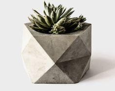 PENTOID - Large Concrete Geometric Planter for Succulent, Cactus + Bonsai Plant