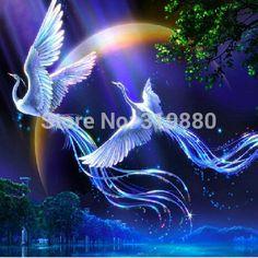 New 5d diy diamond painting animals birds lover phoenix cross stitch round rhinestone pictures of crystals needlework stickers