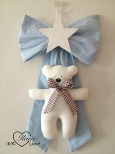 Heart Crafts, Baby Crafts, Crafts To Do, Sewing Toys, Baby Sewing, Sewing Crafts, Baby Door Decorations, Baby Boy Birth Announcement, Baby Shawer