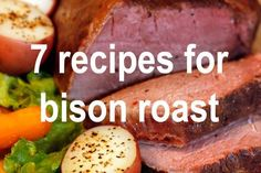 FREE e-book! 7 Recipes for cooking bison chuck & rump roast! Tacos, sandwiches, pot roast and more. Bison Recipes, Wild Game Recipes, Meat Recipes, Chuck Roast Recipes, Bison Meat, Crockpot Rump Roast, Pot Roast, Carne Asada