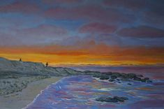 lovely sunset painting artjanetdavies com orange sky seascape fishermen fishing beach waves reflections art for sale painting from artist hand painted At The Beehive Honiton exhibition till Reflection Art, Art Painting, Hand Painting Art, Painting Edges, Painting, Sunset Painting, Seascape Paintings, Top Paintings, Colorful Canvas Art