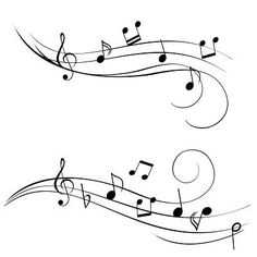I really like the bottom one but with a larger treble clef at the beginning