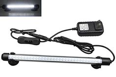 Mingdak® LED Aquarium Light Kit for Fish Tank,underwater Submersible Crystal Glass Lights Suitable for Saltwater and Freshwater,30 Leds,11-inch,lighting Color White  Great for night viewing,Great night light and tank illuminator,cool White LEDs add a shimmering effect to your reef  Mingdak's fish tank litht bar brings the light to the inside of your aquarium. The in-frame mounting allows you to see the light without seeing the fixture  All are fully submersible and come with suction cu...