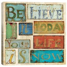 Believe & Hope by Daphne Brissonnet Wall Art