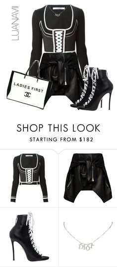 """""""Senza titolo #557"""" by luanavii ❤ liked on Polyvore featuring Givenchy, Magda Butrym, Dsquared2, Christian Dior and Chanel"""
