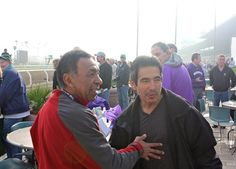 Living legends Angel Cordero and Laffit Pincay, Jr.